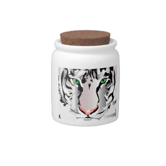 TIGER-WHITE/GREY CANDY JAR