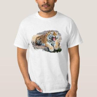 Tiger White Tee-shirt T-Shirt