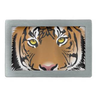 Tiger Wild Animal Rectangular Belt Buckle