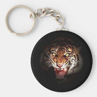 Tiger - Wild Big Cats Art Basic Round Button Keychain