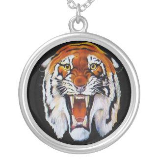 Tiger wild cat fierce sharp teeth fangs custom necklace
