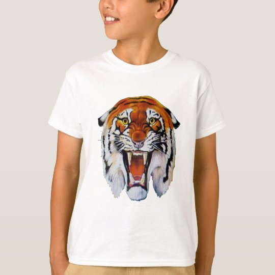 Tiger wild cat fierce sharp teeth thangs T-Shirt