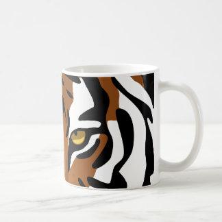 Tiger, Wild Cat on Black Coffee Mug
