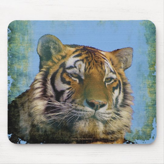 Tiger Wild-Cat Wildlife Artwork Mousemat Mouse Pad