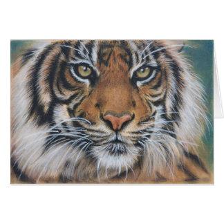 Tiger Wildlife Animal art Card