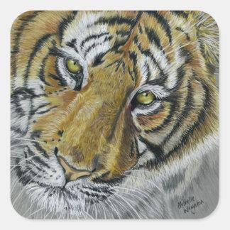Tiger Wildlife Art Necklace Stickers