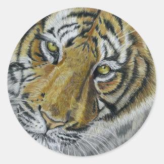 Tiger Wildlife Art Necklace Sticker