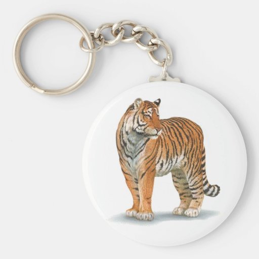 Tiger Wildlife Keychain