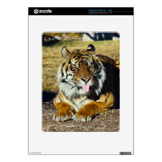 Tiger with a 'tude iPad skin
