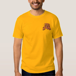 Tiger with claws embroidered T-Shirt
