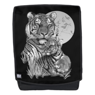 Tiger with Cub (B/W) Boldface Backpack