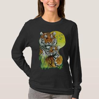 Tiger with Cub Dark Long Sleeve T-Shirt