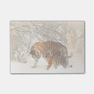 Tiger with cub in the Snow Post-it Notes