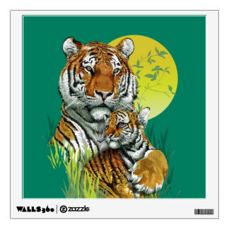 Tiger with Cub Wall Decal