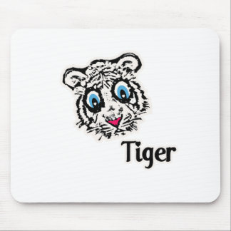 Tiger with Hearts Mouse Pad
