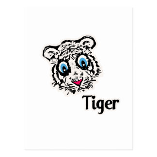 Tiger with Hearts Postcard