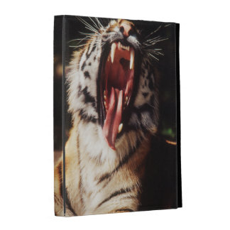 Tiger with mouth open iPad case
