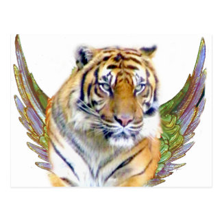 Tiger with wings_ postcard