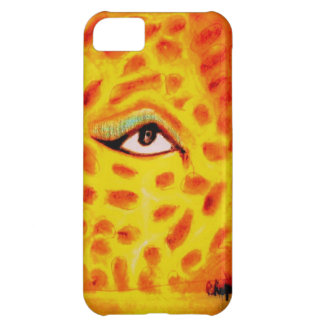 Tiger Woman abstract pastel in yellow multicolor iPhone 5C Cover