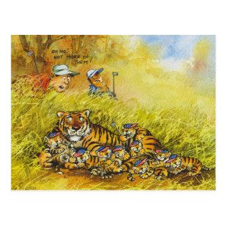 Tiger Woods Postcard