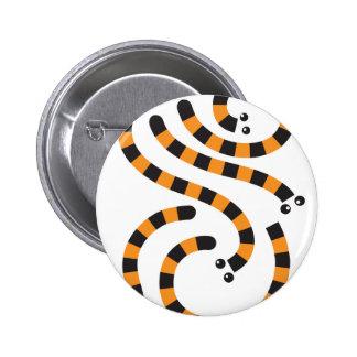 tiger worms design 2 inch round button