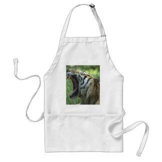tiger yawn adult apron
