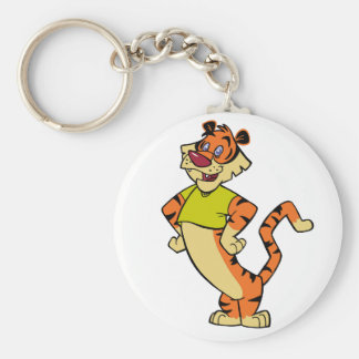 Tiger - Yellow Mascot Keychain