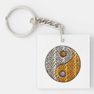 Tiger Yin Yang Keychain