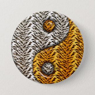 Tiger Yin Yang Pinback Button