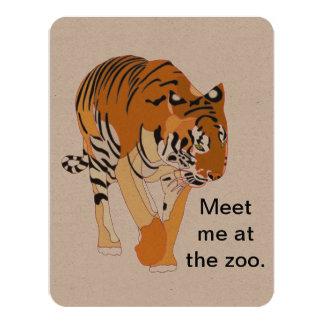 Cute Zoo Animals Birthday Invitations Announcements Zazzle