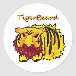 Tigerbeard Classic Round Sticker