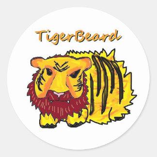 Tigerbeard Round Stickers