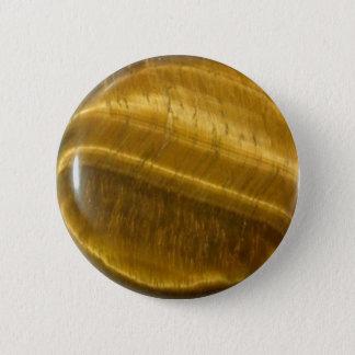 Tigereye (tiger's eye) disc button