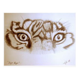 Tigereyes Postcard