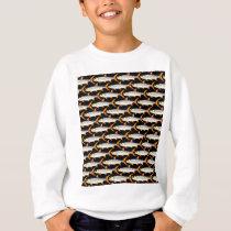 Tigerfish Pattern in Black Sweatshirt