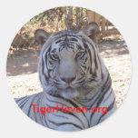 TigerHaven.org Pegatina Redonda