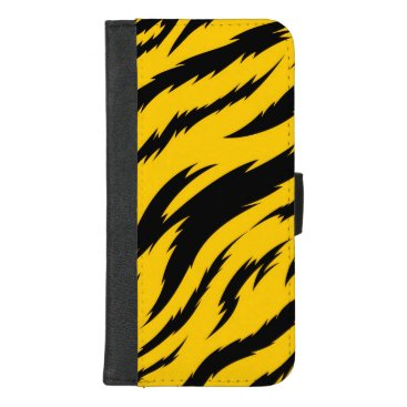 Tigerish: Tiger Yellow Stripe Pattern iPhone 8/7 Plus Wallet Case