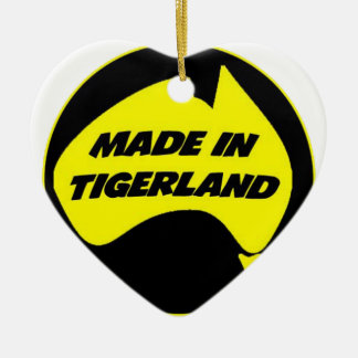 Tigerland Richmond Double-Sided Heart Ceramic Christmas Ornament