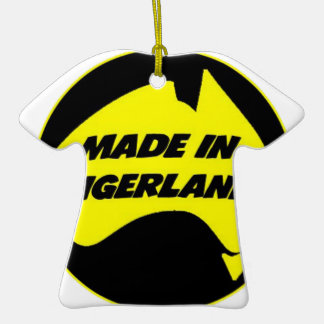 Tigerland Richmond Double-Sided T-Shirt Ceramic Christmas Ornament