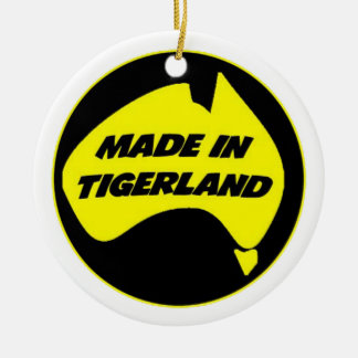 Tigerland Richmond Double-Sided Ceramic Round Christmas Ornament