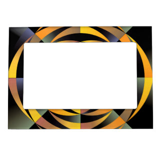 Tigerlike geometric design magnetic picture frame
