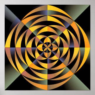 Tigerlike geometric design poster