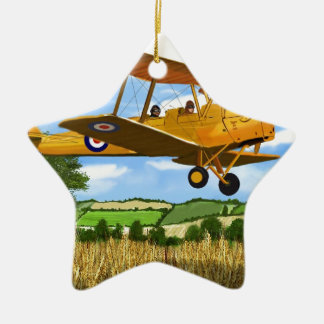 TIGERMOTH FIELDS Double-Sided STAR CERAMIC CHRISTMAS ORNAMENT