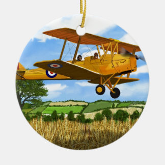 TIGERMOTH FIELDS Double-Sided CERAMIC ROUND CHRISTMAS ORNAMENT