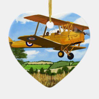 TIGERMOTH FIELDS Double-Sided HEART CERAMIC CHRISTMAS ORNAMENT