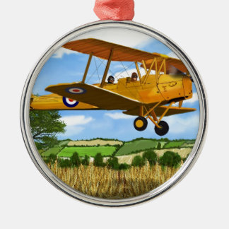 TIGERMOTH FIELDS ROUND METAL CHRISTMAS ORNAMENT