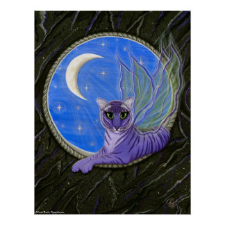 Tigerpixie Fairy Tiger Fantasy Cat Art Print