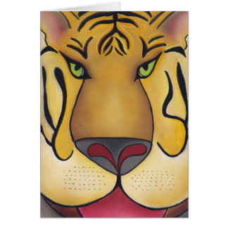 Tigerrrrr  by Robyn Feeley Card