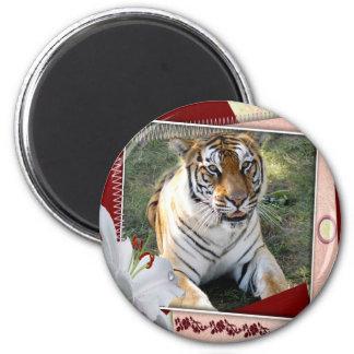 tigers-00218 2 inch round magnet