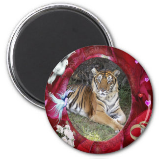 tigers-00270 2 inch round magnet